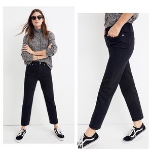 New Madewell Tall Classic Straight Jeans LunarWash